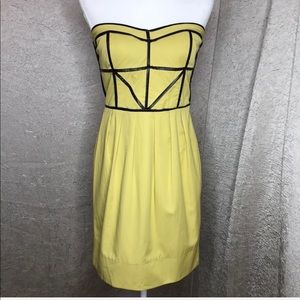Andrew Marc Bustier Style Strapless Dress Size 6